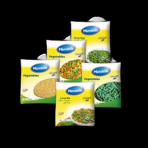 Mondelle Frozen vegetables packaging 400GR